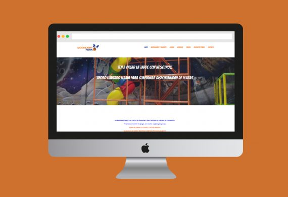 Diseño web y vectorización de logo para parque infantil