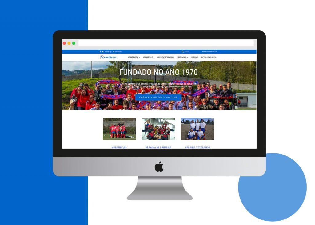 diseño web santiago de compostela prainha club