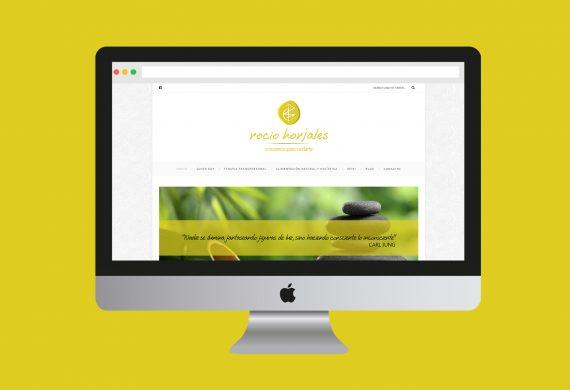 Diseño web y logo para terapeuta transpersonal